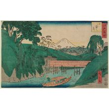 二歌川広重: Ochanomizu, from the series Famous Places in Edo (Edo meisho) - ボストン美術館