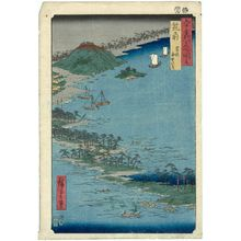 歌川広重: Chikuzen Province: Hakozaki, the Road through the Sea (Chikuzen, Hakozaki, kaichû no michi), from the series Famous Places in the Sixty-odd Provinces [of Japan] ([Dai Nihon] Rokujûyoshû meisho zue) - ボストン美術館
