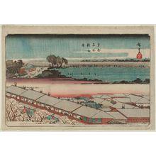 歌川広重: The New Yoshiwara (Shin Yoshiwara), from the series Famous Places in the Eastern Capital (Tôto meisho) - ボストン美術館