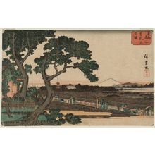 歌川広重: View of Matsuchiyama (Matsuchiyama no zu), from the series Famous Places in the Eastern Capital (Tôto meisho) - ボストン美術館