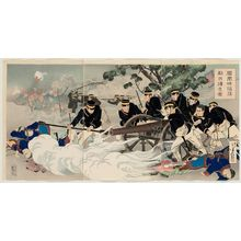 Mizuno Toshikata: The Fall of Fenghuangcheng: Putting the Enemy to Rout (Hôôjô kanraku tekihei kaisô zu) - Museum of Fine Arts