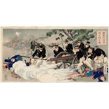 水野年方: The Fall of Fenghuang-cheng: Putting the Enemy to Rout (Hôôjô kanraku tekihei kaisô zu) - ボストン美術館