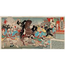 Nakamura Shûkô: Attack on Jiuliancheng in China (Seikoku Kyûrenjô kôgeki no zu) - Museum of Fine Arts
