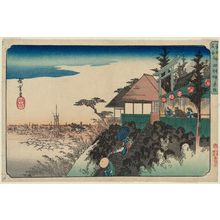 歌川広重: East Slope at Kanda Myôjin Shrine (Kanda Myôjin Higashizaka), from the series Famous Places in the Eastern Capital (Tôto meisho) - ボストン美術館