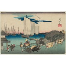 歌川広重: Evening View of Takanawa (Takanawa no yûkei), from the series Famous Places in the Eastern Capital (Tôto meisho) - ボストン美術館