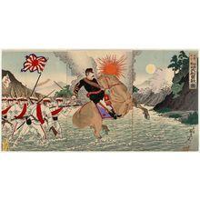Watanabe Nobukazu: The Courageous Fight of General Matsuzaki During the Battle of Songhwan (Seikan no eki ni oite Matsuzaki taii yûsen no zu) - Museum of Fine Arts