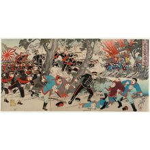 渡辺延一: The Sino-Japanese War: Our Army's Occupation of Fengtianfu (Nisshin sensô Hôtenfu wagagun senryô no zu) - ボストン美術館