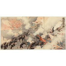 Ogata Gekko: Illustration of the Occupation of Weihaiwei (Ikaiei senryô no zu) - Museum of Fine Arts