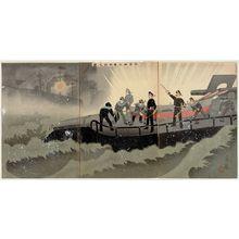 Norichika: A Torpedo Boat Fires a Torpedo (Suiraitei suirai hassha no zu) - Museum of Fine Arts