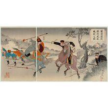 渡辺延一: Sino-Japanese Pitched Battles: Two Generals Fighting at Fenghuangcheng (Nisshin gekisen ryôshô Hôôjô sen no zu) - ボストン美術館