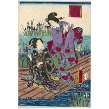 Utagawa Fusatane: Yatsuhashi - Museum of Fine Arts