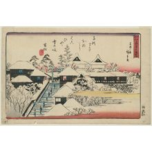 歌川広重: Tenmangû Shrine at Yushima, Clear Weather after Snow (Yushima Tenmangû, yukibare no zu), from the series Famous Places in Edo (Edo meisho) - ボストン美術館