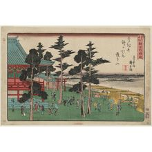 歌川広重: Kanda Myôjin Shrine (Kanda Myôjin yashiro), from the series Famous Places in Edo (Edo meisho) - ボストン美術館