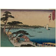 Utagawa Hiroshige: Evening View of Takanawa (Takanawa no yûkei), from the series Famous Places in Edo (Kôto meisho) - Museum of Fine Arts