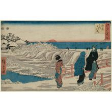 Utagawa Hiroshige: Sunrise on New Year's Day at Susaki (Susaki hatsu hinode), from the series Famous Places in Edo (Edo meisho) - Museum of Fine Arts