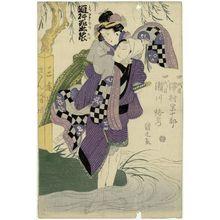 Utagawa Kunimaru: Actors Sawamura Sôjûrô IV and Segawa Rokô IV - ボストン美術館