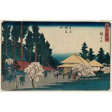 Utagawa Hiroshige: Inari Shrine at Ôji (Ôji Inari yashiro), from the series Famous Places in Edo (Edo meisho) - Museum of Fine Arts