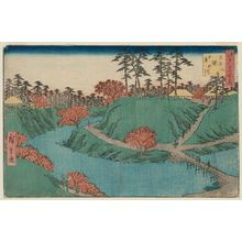 Utagawa Hiroshige: Scene of Maple Leaves at Waterfall River in Ôji (Ôji Takinogawa kôyô no fûkei), from the series Famous Places in Edo (Edo meisho no uchi) - Museum of Fine Arts