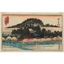 Utagawa Hiroshige: Inari Shrine at Ôji (Ôji Inari), from the series Famous Places in Edo (Kôto meisho) - Museum of Fine Arts