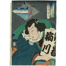Utagawa Kuniteru: No. 10, Actor as the Wrestler Tetsugadake, from the series Comparisons for Famous Places in Edo (Edo meisho awase no uchi) - Museum of Fine Arts