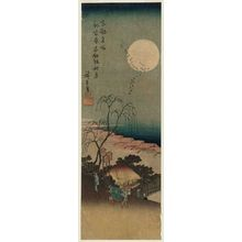 歌川広重: Autumn Moon at Emonzaka in the New Yoshiwara (Shin Yoshiwara Emonzaka shûgetsu), from the series Famous Views of the Eastern Capital (Tôto meisho) - ボストン美術館