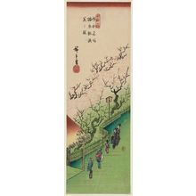 Utagawa Hiroshige: Plum Garden in Full Bloom (Ume yashiki manka no zu), from the series Famous Views of the Eastern Capital (Tôto meisho) - Museum of Fine Arts
