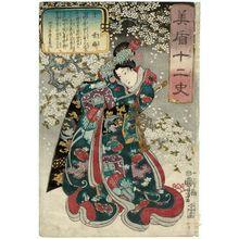 歌川国芳: Rat (Ne): Yuki-hime, from the series Selections for the Twelve Zodiac Signs (Mitate jûnishi) - ボストン美術館