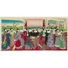 Toyohara Chikanobu: Singing Songs for Primary Education, an Informal Picture (Shôgaku shôka no ryakuzu) - Museum of Fine Arts