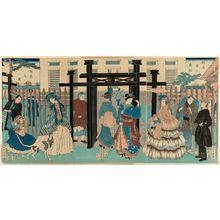 Utagawa Sadahide: Foreign Merchant House in Yokohama (Yokohama ijin shôkan) - Museum of Fine Arts