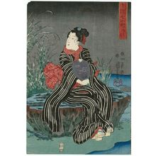 Utagawa Kuniyoshi: Gravepost (Sotoba), from the series Seven Komachi in Modern Style (Imayô nana Komachi) - Museum of Fine Arts