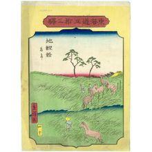二歌川広重: No. 40, Chiryû: Horse Fair (Uma ichi), from the series Fifty-three Stations of the Tôkaidô Road (Tôkaidô gojûsan eki) - ボストン美術館