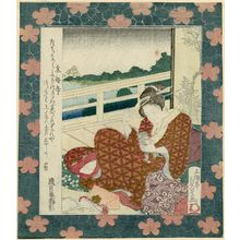Utagawa Sadakage: Mokubô-ji Temple, from an untitled series of famous places in Edo - ボストン美術館