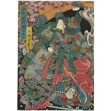 Utagawa Yoshitsuya: Takiyasha, from the series Mirror of Warriors of Our Country (Honchô musha kagami) - Museum of Fine Arts