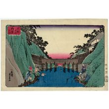 歌川芳員: Ochanomizu, from the series Famous Places in the Eastern Capital (Tôto meisho) - ボストン美術館