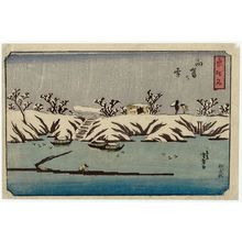Utagawa Yoshimori: Snow at Mukôjima (Mukôjima no yuki), from the series Place-names of the East (Azuma chimei) - ボストン美術館