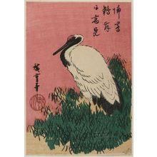 Utagawa Hiroshige: Crane and Bamboo Grass - Museum of Fine Arts