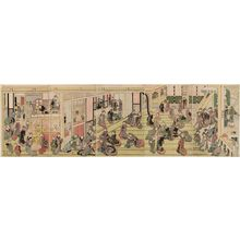 Katsushika Hokusai: New Year's Day at the Ôgi-ya in the Yoshiwara - Museum of Fine Arts