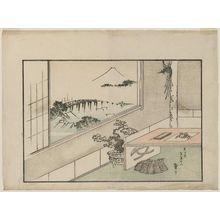 Katsushika Taito II: Mount Fuji Seen through a Window on New Year's Day - ボストン美術館