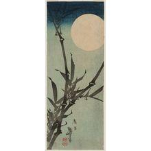 Katsushika Taito II: Bamboo and Full Moon - ボストン美術館
