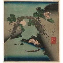 Katsushika Taito II: Monkey Bridge in Moonlight - ボストン美術館