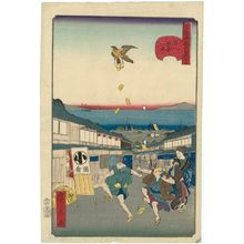 Utagawa Hirokage: No. 27, Meshikura Street in Shiba (Shiba Meshikura-tôri), from the series Comical Views of Famous Places in Edo (Edo meisho dôke zukushi) - Museum of Fine Arts