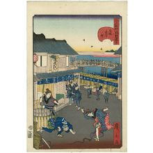 Utagawa Hirokage: No. 30, Yonezawa-machi in Ryôgoku (Ryôgoku Yonezawa-machi), from the series Comical Views of Famous Places in Edo (Edo meisho dôke zukushi) - Museum of Fine Arts