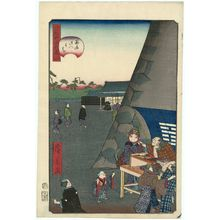 歌川広景: No. 34, Inside Sujikai Gate (Sujikai gomon uchi), from the series Comical Views of Famous Places in Edo (Edo meisho dôke zukushi) - ボストン美術館