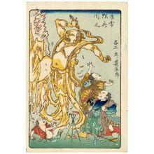 河鍋暁斎: The Famous Sculptor Hidari Jingorô (Meikô Hidari Jingorô), from the series One Hundred Pictures by Kyôsai (Kyôsai hyakuzu) - ボストン美術館