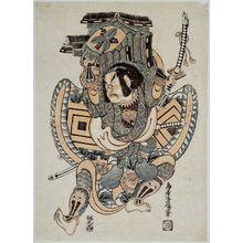 Torii Kiyomasu II: Actor Ichikawa Ebizô II as Kagekiyo (Nise Gorô) - Museum of Fine Arts
