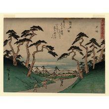 Utagawa Hiroshige: Totsuka, from the series Fifty-three Stations of the Tôkaidô Road (Tôkaidô gojûsan tsugi), also known as the Kyôka Tôkaidô - Museum of Fine Arts