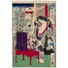 Tsukioka Yoshitoshi: Kaoyo Gozen, from the series Essays by Yoshitoshi (Ikkai zuihitsu) - Museum of Fine Arts