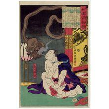 Tsukioka Yoshitoshi: Onogawa Kisaburô, from the series Ghost Stories of China and Japan (Wakan hyaku monogatari) - Museum of Fine Arts