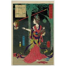 Tsukioka Yoshitoshi: Lady Kayô (Kayô Fujin), from the series One Hundred Ghost Stories from China and Japan (Wakan hyaku monogatari) - Museum of Fine Arts