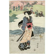 Utagawa Kuniyasu: Flower Viewing - Museum of Fine Arts